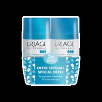 Uriage 2 x Deodorant Roll-on 3-ACTIV PROMO PAKIRANJE - sprječava pretjerano znojenje